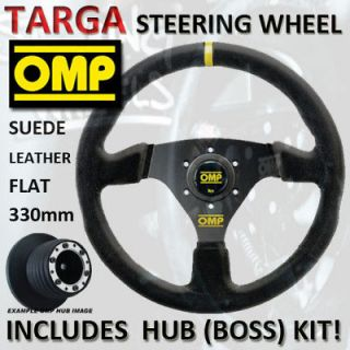 OMP TARGA STEERING WHEEL 330mm & HUB MINI MAYFAIR 91