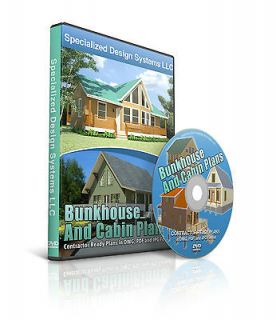 50 Cabin Plans in PDF, JPG and AutoCAD DWG Format on DVD Blueprints