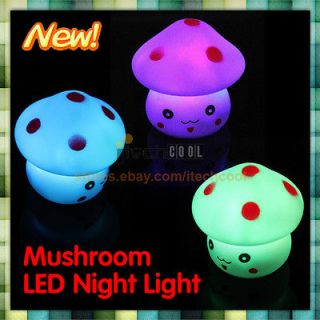 New LED 7 Color Changing Night Light Colorful Energy Novelty Lamp