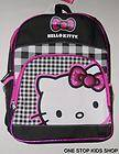 HELLO KITTY Girls School Bag BACKPACK Tote Pouch Purse