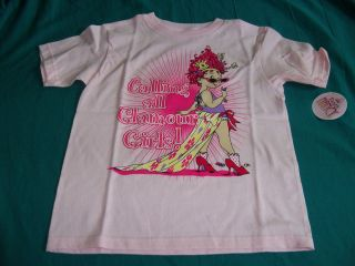 Fancy Nancy Calling All Glamour Girls Pink Tshirt Size Large (6X 7
