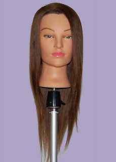 Mannequin Head 100% HUMAN Hair  Color, Cutting, Curling, Updo