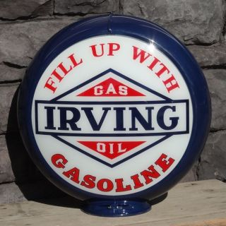 Fill Up With Irving Gasoline   13.5 Gas Pump Globe