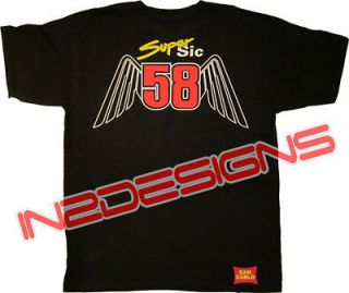 MARCO SIMONCELLI SIMONCHELLI SUPER SIC TSHIRT BLACK ALL SIZES