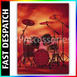 Rocking Rock Band Drum Set with Cymbals Quality Jigsaw Puzzle 3 Sizes