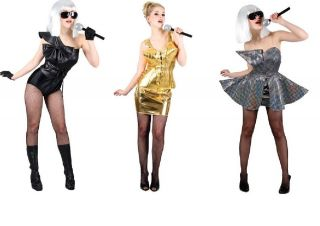 Lady Gaga Madonna Lady Pop Star Fancy Dress Halloween Costume