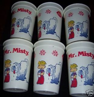 Rare MINT Dennis The Menace DQ Dairy Queen cups x 6