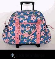 GoGo Gear Goods Gabrielle Pucci Pink Daisy Blue Rolling Laptop Bag