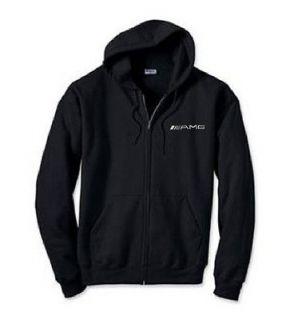 AMG Mercedes Benz Car Logo EMBROIDERED Black Zipper Hoddie Sweatshirt