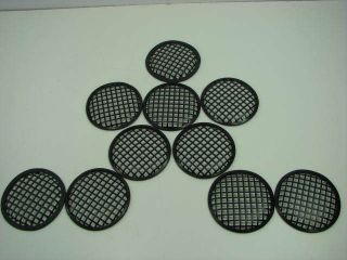 Pieces 5 Diameter Black Metal Waffle Style Speaker Grill Covers NEW