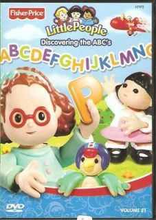 Fisher Price LITTLE PEOPLE DISCOVERING ABCs DVD (Vol 21)¬NEW/SEALED