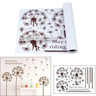 Elegant Dandelion Wall Decal Removable Wall Sticker Home Office