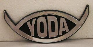 DARWIN FISH evolution YODA car emblem ~ Star Wars ~ raised chrome