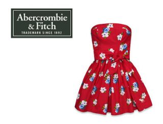New Abercrombie by Hollister Women AnnaBel Floral Dresses Strapless