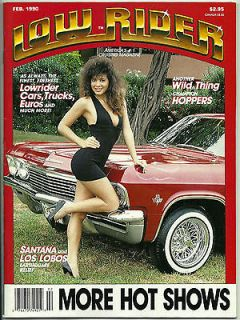 LOW RIDER MAGAZINE FEB 1990 RARE CHICANO CAR CLUB LOWRIDER TEEN ANGEL