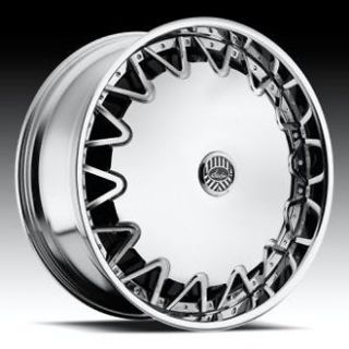 22 DAVIN REVOLVE SPINNERS Highlight WHEEL SET 22x8.5 RIMS 5   6 Lug