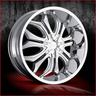26 VCT Wheels Godfather Rims Tire Impala Dodge Ram 28 (Specification