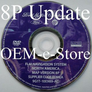 8P Update 2008 Ford ESCAPE Hybrid F250 F350 F450 Navigation DVD Map U