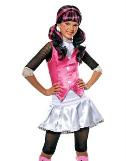 Young Girls Monster High Pink Draculaura Vampire Child Halloween
