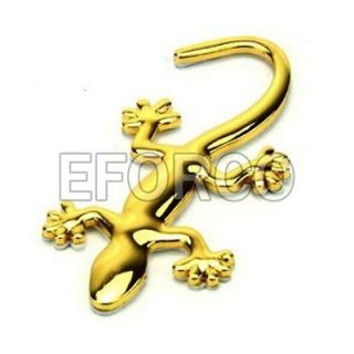 Car Auto 3D Badge Emblem Decal Decoration Gecko Car Sticker Gold★