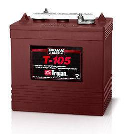 Trojan T 105 6 Volt Deep Cycle Battery Free Delivery* Batteries for