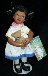 2001 Sweet Delton Tiny Toddler Siti 8 Doll w/Teddy Bear   Strung