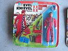 RARE 1975 Ideal Evel Knievel Racing Set Action Figure in Package LOOK