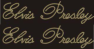 Design 13x4 Elvis Presley 2 Pc DIY Transfer Motif Any Color