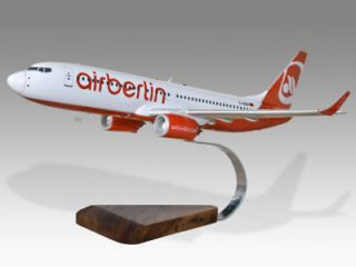 Boeing 737 800 Air Berlin Wood Desktop Airplane Model