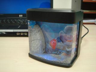Mini USB Fish Tank Aquarium with LED Light