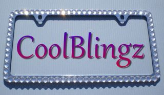 CRYSTAL CLEAR Color Bling Diamond Rhinestone License Plate Frame + 2