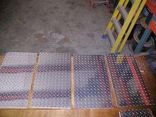 375 Aluminum Diamond Plate   4 PIECES 14X 25