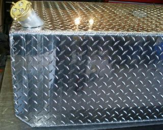 85 Gallon Aluminum Diamond Plate Fuel Transfer Tank