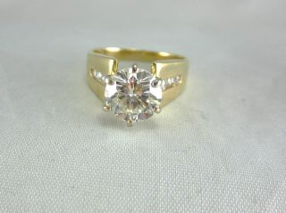 ESTATE 14K TWO TONE GOLD LADIES DIAMOND RING 2.80 CTS TDW