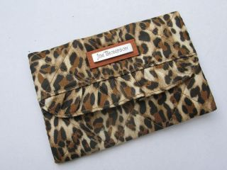 Jim Thompson silk Tissue purse with mirror   Leopard printed