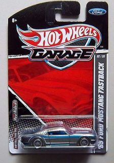 FORD MUSTANG FASTBACK Silver Blue HOT WHEELS GARAGE Diecast 1/64 Car