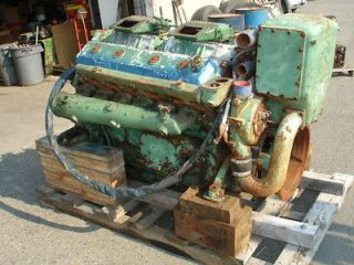 12V 71N Detroit Diesel Marine Engine, w/Water Cooled Exhaust