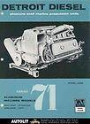 1957 Detroit Diesel 71 4088 6088 Marine Engine Brochure