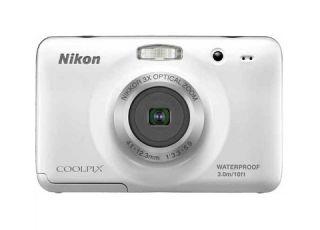 S30 10.1MP 3x Optical Zoom Waterproof Compact Digital Camera White