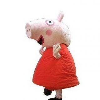 NEW adult size red peppa pig Mascot Costume Fancy Dress