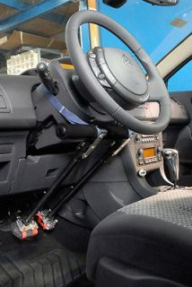 Left Hand accelerator brake car control for disabled