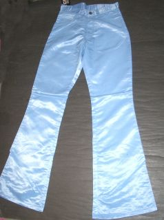SATIN FLARES 70s trousers glam rocker disco pants. New 32 34 36 New
