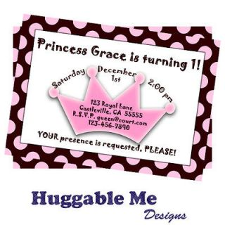 Princess Birthday Invitations   Printable Kids Birthday Invitation