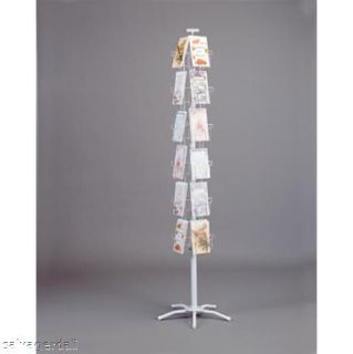 New 24 Pocket Greeting Card Display Rack Spinner 4 7/8