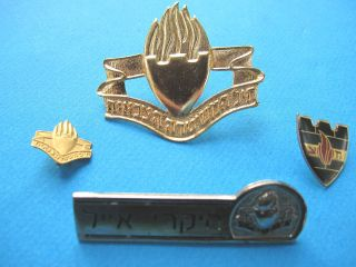 ISRAEL IDF ARMY  MILITARY POLICE GOLDEN METAL HAT BADGE W/ LOT METAL M