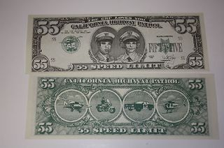 Vintage California Highway Patrol, CHP (2 each)55 Dollar Bill