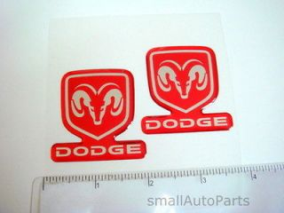 NEW!!! DODGE head/hood/back​/trunk Domed Red/Chrome EMBLEM ram