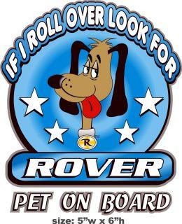 Dog Pet On Board Sticker Decal 4 Car Window RV Trailer Kennel Truck