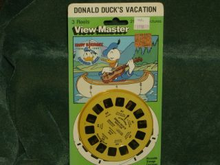 Vintage View Master 3D Reels Donald Ducks Vacation   NEW