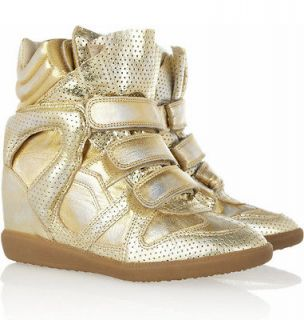NIB ISABEL MARANT F/W2013 BIRD DORE WEDGE SNEAKERS Sz 39
